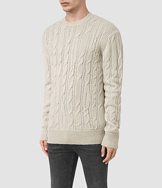 Mens Kendrikk Crew Sweater (Smoke Grey Marl) - product_image_alt_text_3