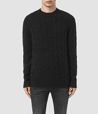 Mens Kendrikk Crew Sweater (Cinder Black Marl)