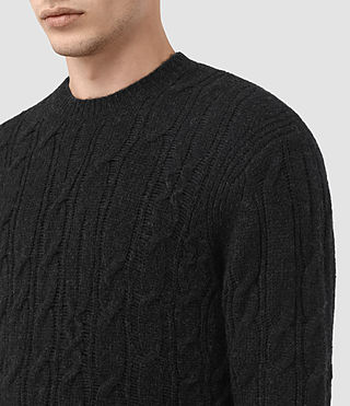 Hombre Kendrikk Crew Sweater (Cinder Black Marl) - product_image_alt_text_2