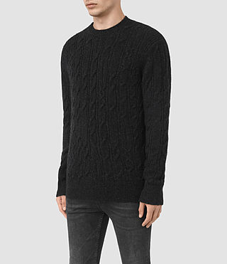 Hombre Kendrikk Crew Sweater (Cinder Black Marl) - product_image_alt_text_3