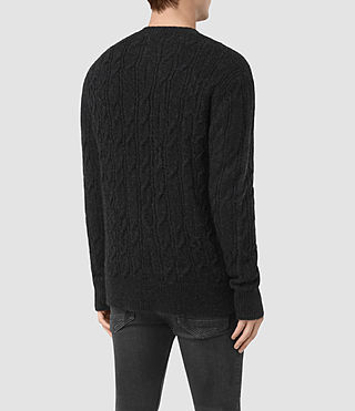 Hombre Kendrikk Crew Sweater (Cinder Black Marl) - product_image_alt_text_4