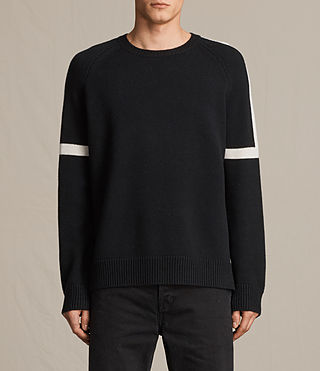 Mens Trakk Crew Jumper (Black) - product_image_alt_text_1