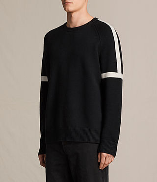 Mens Trakk Crew Jumper (Black) - product_image_alt_text_2