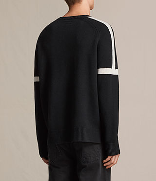 Mens Trakk Crew Jumper (Black) - product_image_alt_text_3