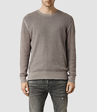 Hommes Stein Crew Jumper (Military Grey)