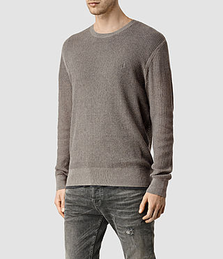 Hombres Stein Crew Jumper (Military Grey) - product_image_alt_text_2