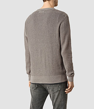 Hombres Stein Crew Jumper (Military Grey) - product_image_alt_text_3