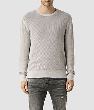 Mens Stein Crew Sweater (Light Grey Marl) - product_image_alt_text_1