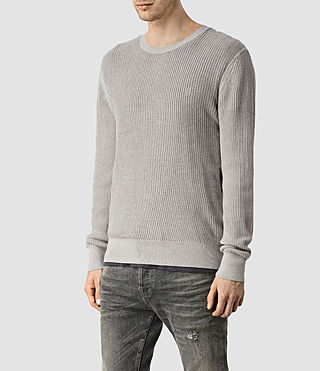 Mens Stein Crew Sweater (Light Grey Marl) - product_image_alt_text_2