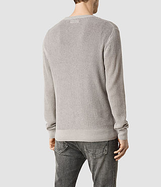 Hombres Stein Crew Jumper (Light Grey Marl) - product_image_alt_text_3