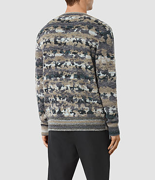 Mens Landry Crew Sweater (Taupe Marl) - product_image_alt_text_3