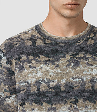 Mens Landry Crew Sweater (Taupe Marl) - product_image_alt_text_4