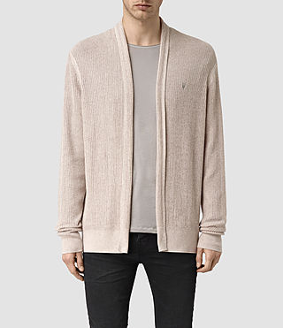 Hombres Stein Cardigan (Taupe Marl) -