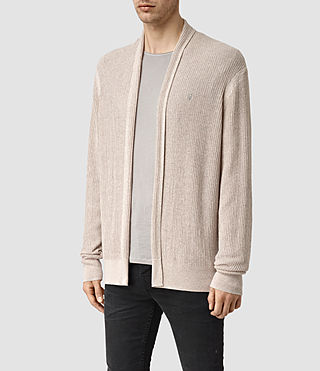 Uomo Stein Cardigan (Taupe Marl) - product_image_alt_text_2
