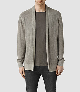 Herren Stein Cardigan (Military Grey)