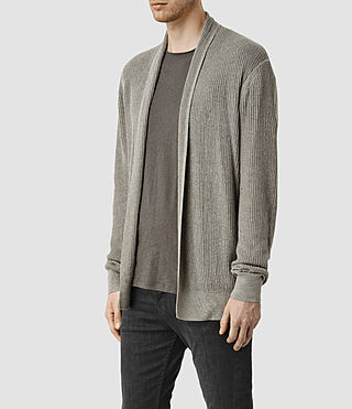 Hommes Stein Cardigan (Military Grey) - product_image_alt_text_2