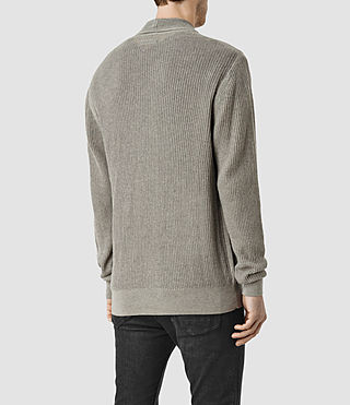 Hommes Stein Cardigan (Military Grey) - product_image_alt_text_3