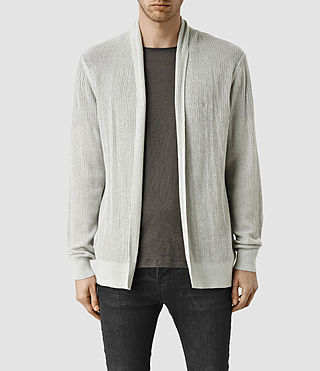 Herren Stein Cardigan (Light Grey Marl)