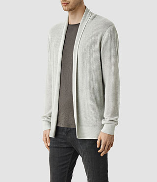 Mens Stein Cardigan (Light Grey Marl) - product_image_alt_text_2