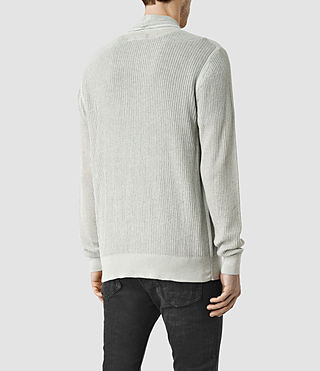 Hombre Stein Cardigan (Light Grey Marl) - product_image_alt_text_3