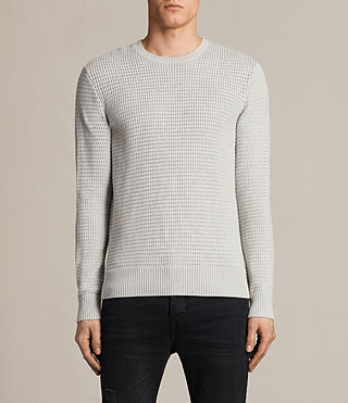 Hombres Ettrick Crew Jumper (Light Grey Marl)