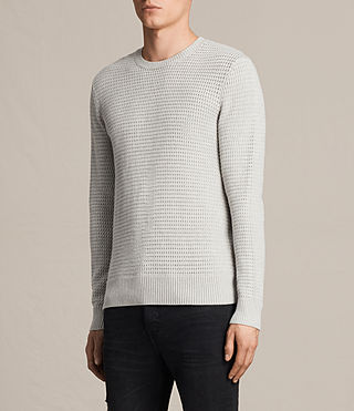 Hombre Ettrick Crew Sweater (Light Grey Marl) - product_image_alt_text_2