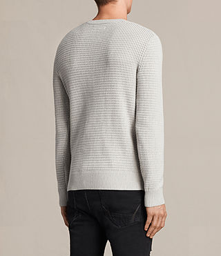 Hombre Ettrick Crew Sweater (Light Grey Marl) - product_image_alt_text_3