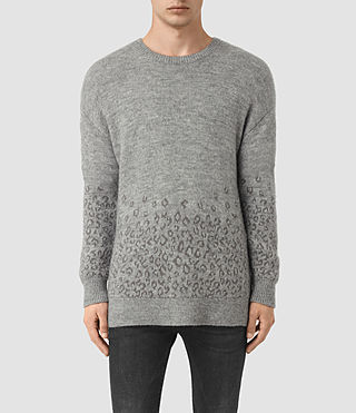 Mens Tredan Crew Sweater (Grey Marl)