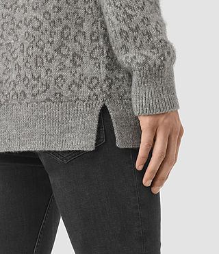 Mens Tredan Crew Sweater (Grey Marl) - product_image_alt_text_2