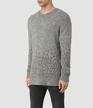 Mens Tredan Crew Sweater (Grey Marl) - product_image_alt_text_3