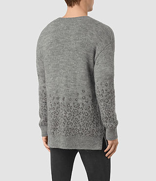 Mens Tredan Crew Sweater (Grey Marl) - product_image_alt_text_4