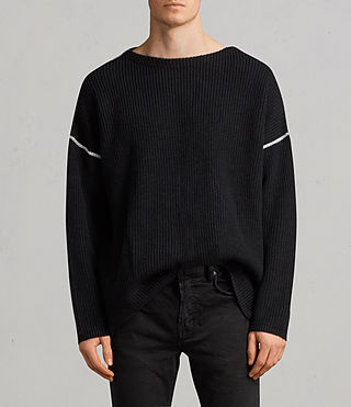 Men's Bind Crew Jumper (Black) - Image 1