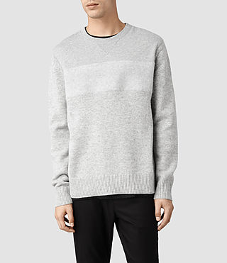 Men's Bracton Crew Jumper (Grey Marl)
