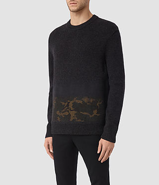 Hombre Barra Crew Sweater (CINDER BLACK CAMO) - product_image_alt_text_3