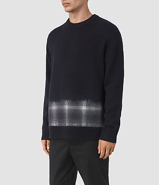 Hommes Barra Crew (INK NAVY PLAID) - product_image_alt_text_4