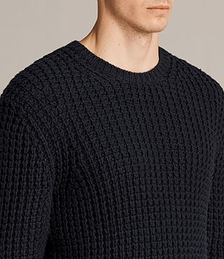 Mens Ren Crew Sweater (INK NAVY) - Image 2