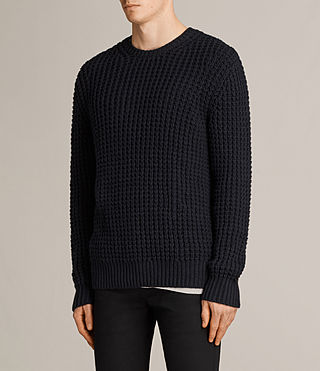 Mens Ren Crew Sweater (INK NAVY) - Image 3