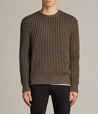 Herren Ren Crew Pullover (BATTLE BROWN) - Image 1