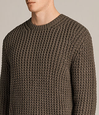 Herren Ren Crew Pullover (BATTLE BROWN) - Image 2