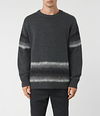 Men's Myst Crew Jumper (Charcoal Marl) -