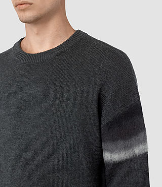 Men's Myst Crew Jumper (Charcoal Marl) - product_image_alt_text_2