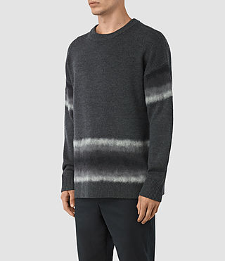 Men's Myst Crew Jumper (Charcoal Marl) - product_image_alt_text_3
