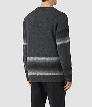 Uomo Myst Crew Jumper (Charcoal Marl) - product_image_alt_text_4