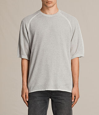 Men's Terrum Short Sleeve Crew Jumper (Light Grey Marl) -