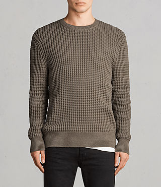 Men's Kee Crew Jumper (Olive Green) - Image 1