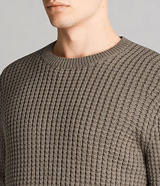 Men's Kee Crew Jumper (Olive Green) - Image 2