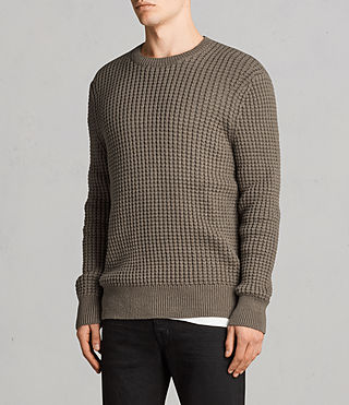Men's Kee Crew Jumper (Olive Green) - Image 3