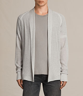 Men's Terrum Cardigan (Light Grey Marl) - product_image_alt_text_1