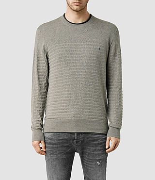 Men's Wherry Crew Jumper (MilitaryGry/Oyster)