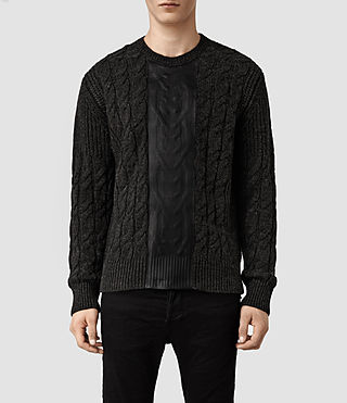 Mens Kurgan Crew Sweater (Charcoal/Black)